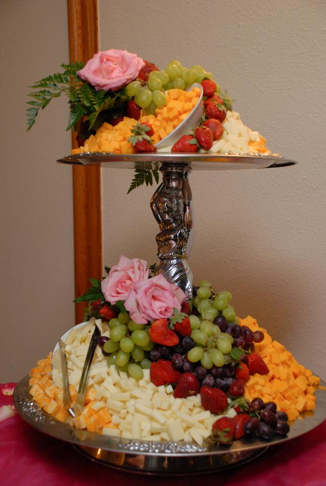 A fruit and cheese station by the leading caterer in Spring Hill