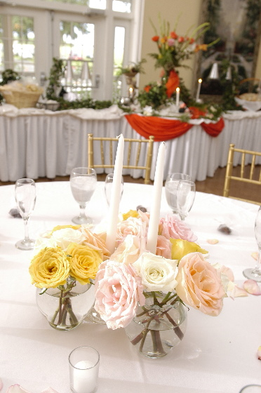 A place setting for a Clearwater wedding by Affordable Catering