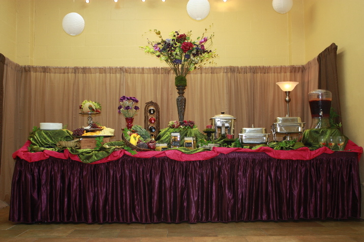 A corporate caterer's spread for a Sarasota Event