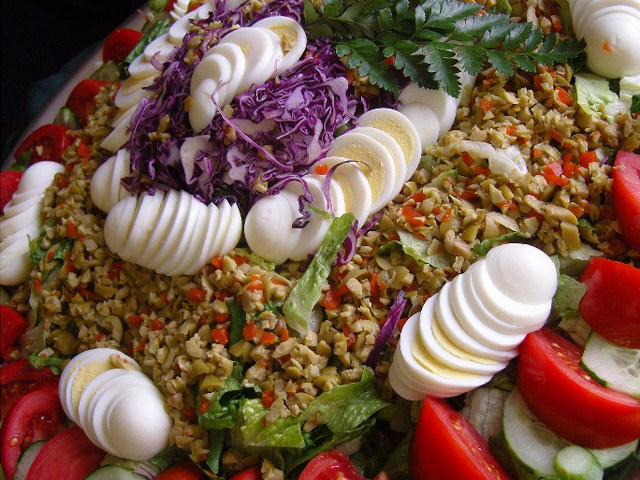 Spanish Garden Salad by Affordable Catering in Sarasota